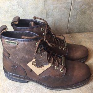 Harley Davidson Darrol Brown Leather boots sz 10M